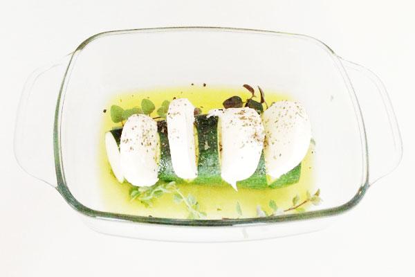 courgette met mozzarella