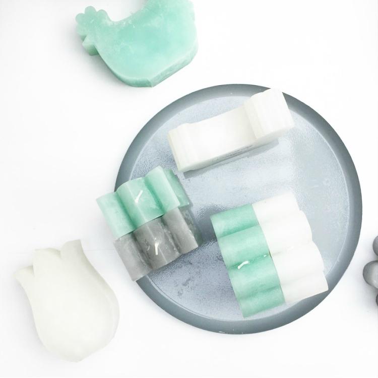 hemapressday - kaarsen in groen, grijs en wit
