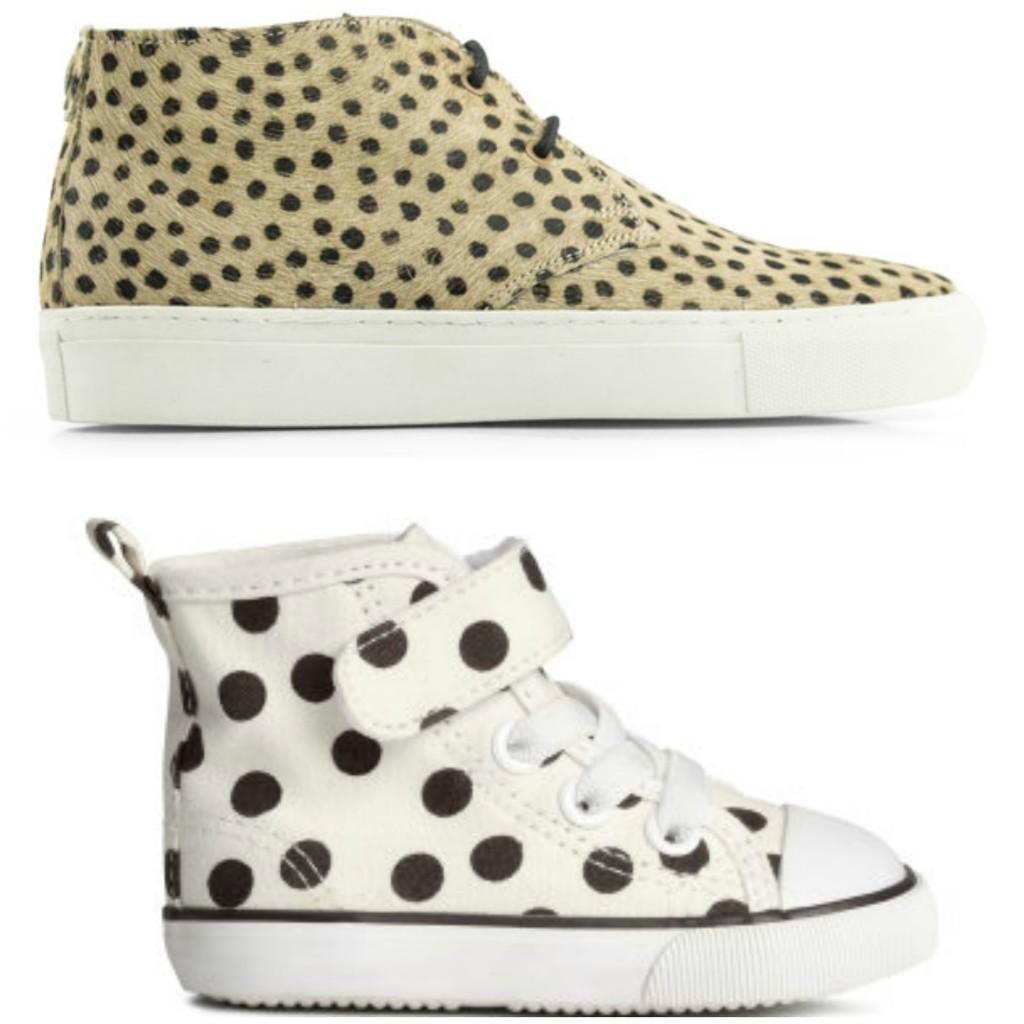 maruti en h&m stippen schoenen sneakers