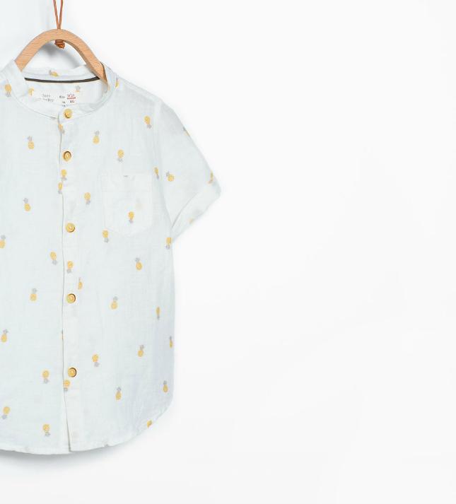 Ananas - wit overhemd van de Zara