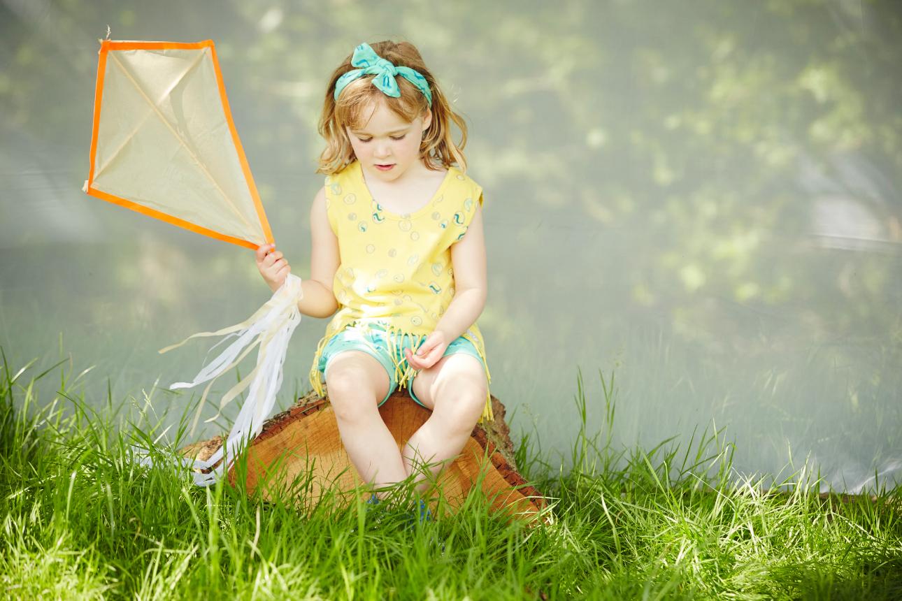 indikidual ss15 meisje vlieger geel blauw