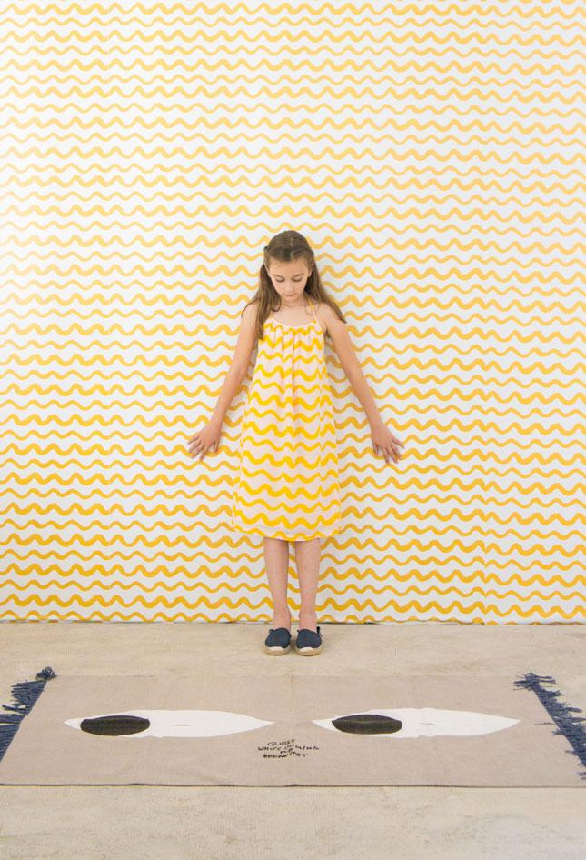 Bobo Choses behang - Yellow waves