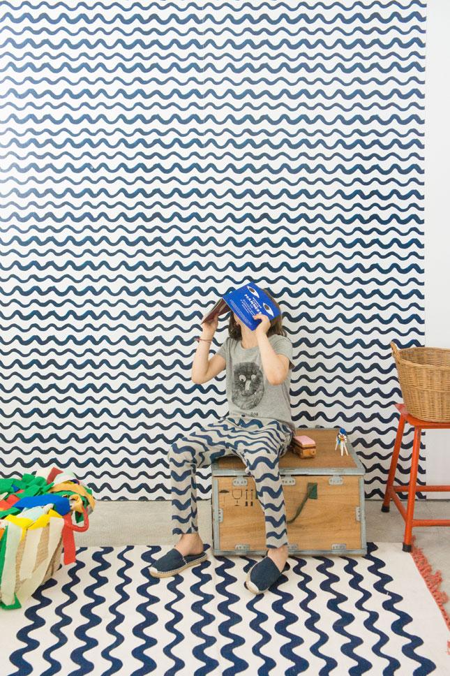Bobo Choses behang - Blue waves