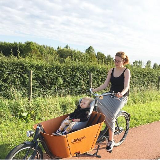 Babboe City bakfiets testen - fietsen in de Haarlemmermeer