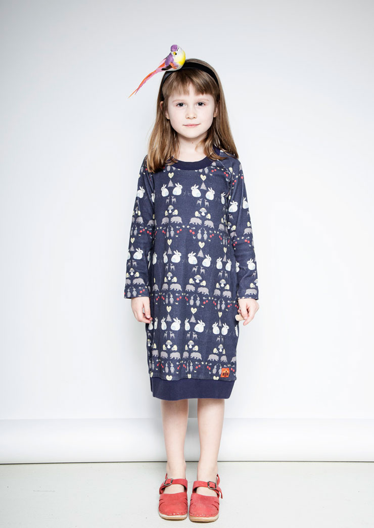 Modeerska Huset aw15 Deep Forest Dress
