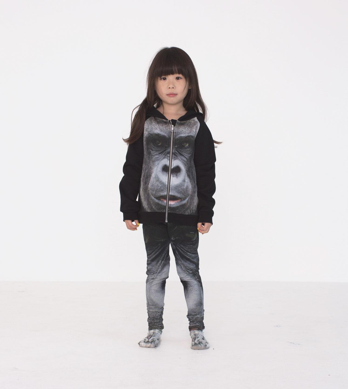 Popupshop AW15 gorilla onesie meisje