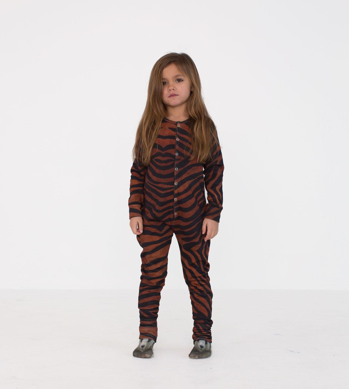 Popupshop aw15 tijger strepen meisje onesie