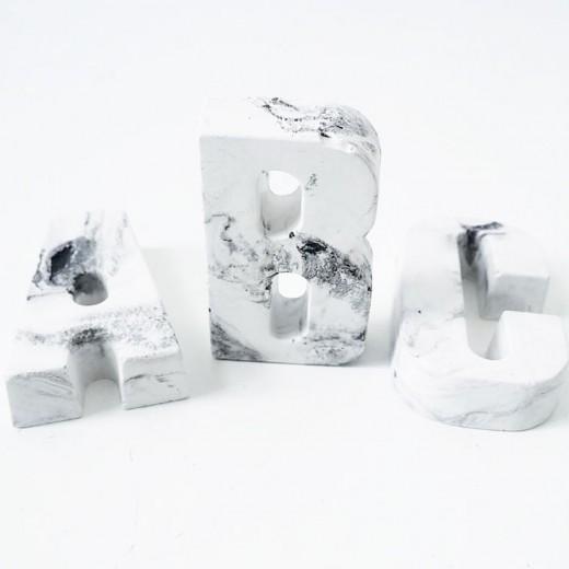 9x marmerprint marmeren letters huusje