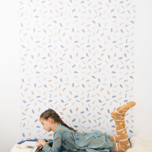 Bobo choses aw15 behang wallpaper chispum leaves