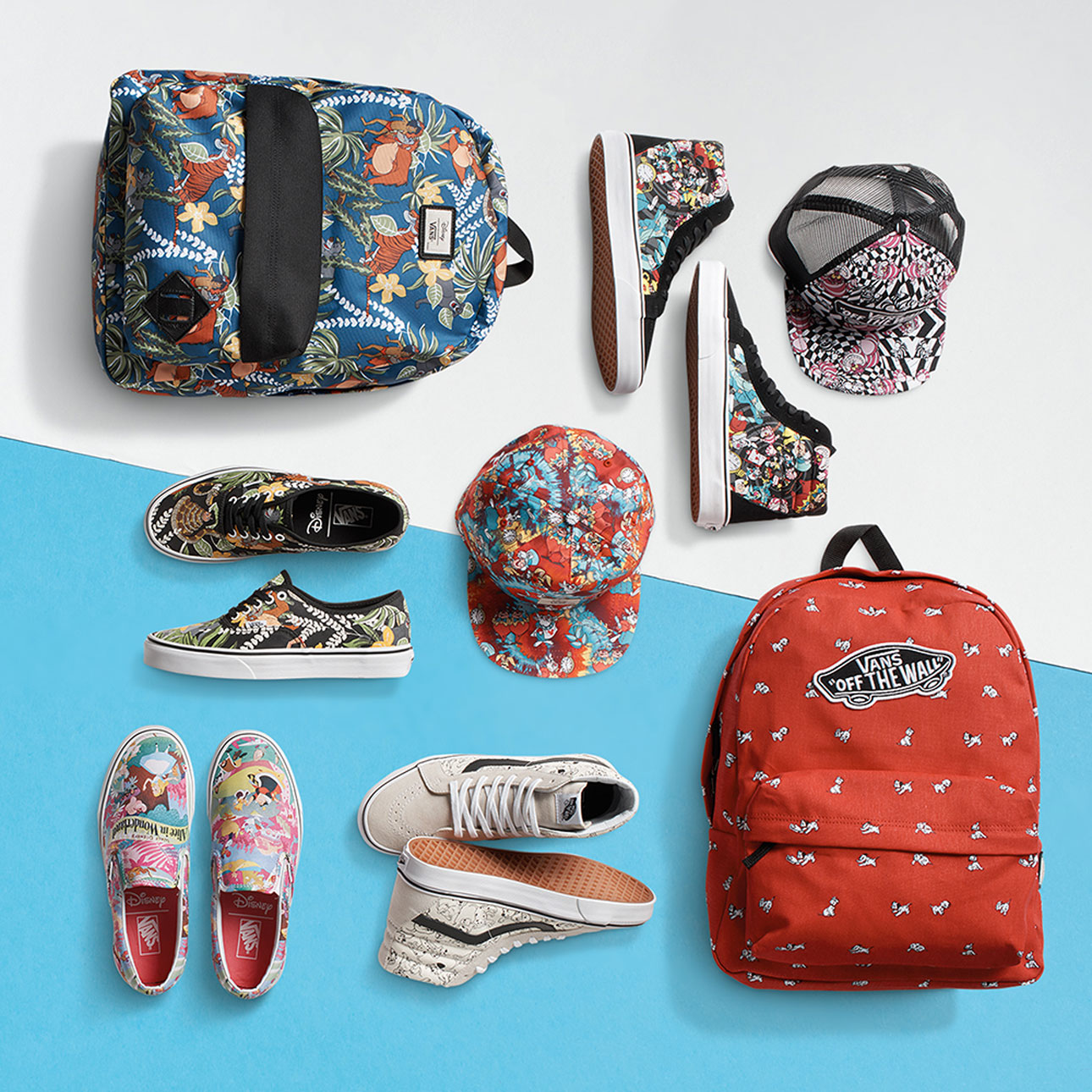 vans disney herfst winter 2015 - vans jungle book - vans 101 dalmatiers - vans alice in wonderland