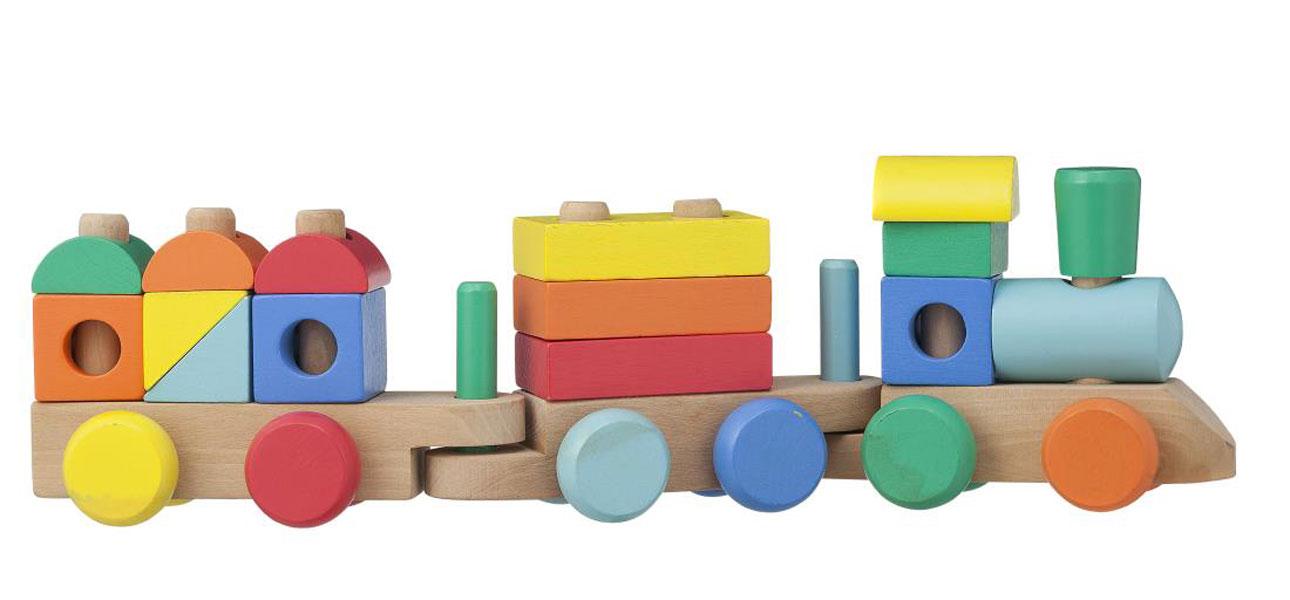 hema houten speelgoed gekleurde houten-trein