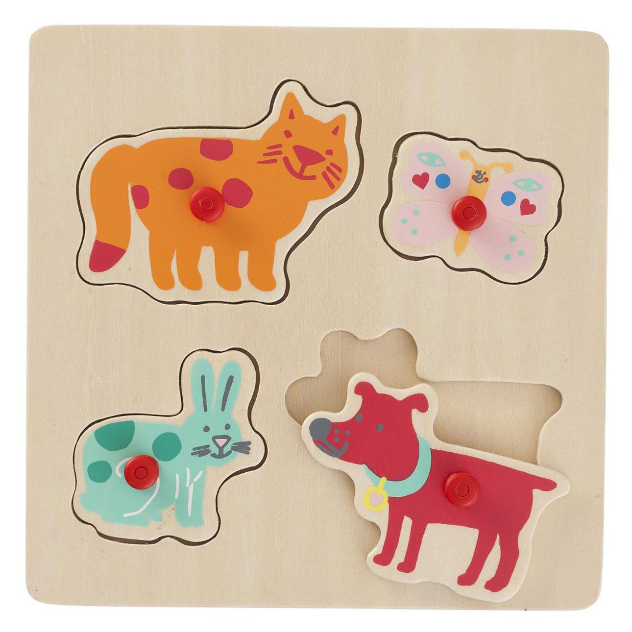 hema houten speelgoed puzzel puzzel dieren