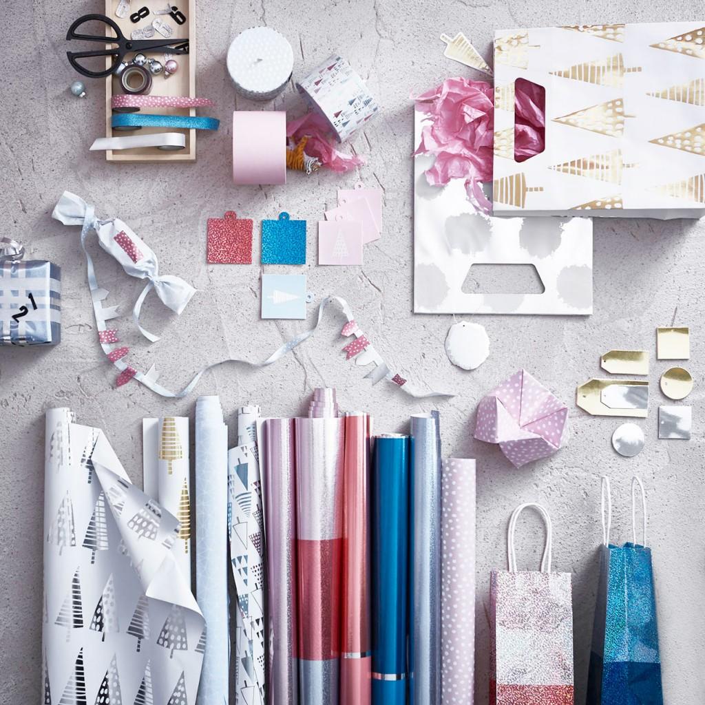 Ikea kerst 2015 inpakken pastel
