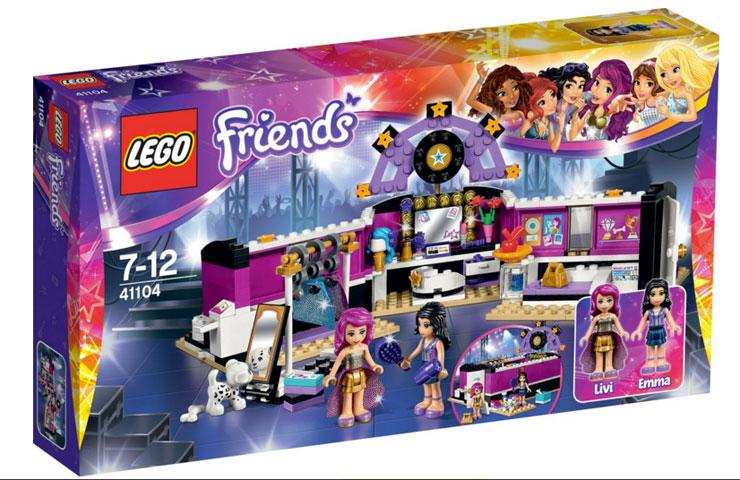lego friends popster kleedkamer