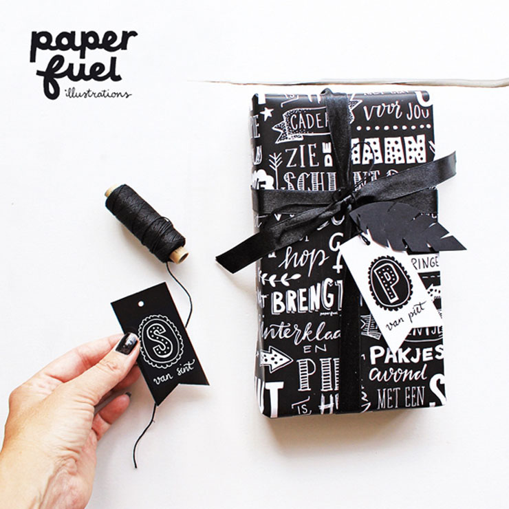sinterklaas cadeaupapier paperfuel illustrations