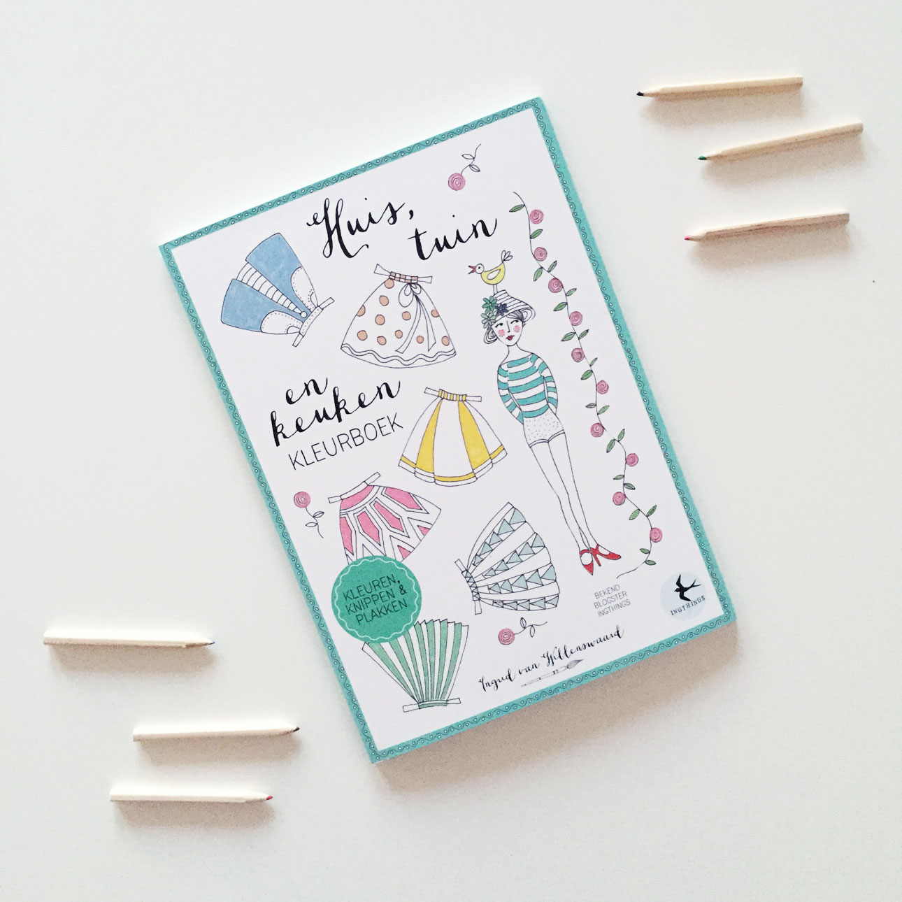 Huis, tuin en keukenkleurboek - Ingrid van Willenswaard - Kleurboek voor volwassenen