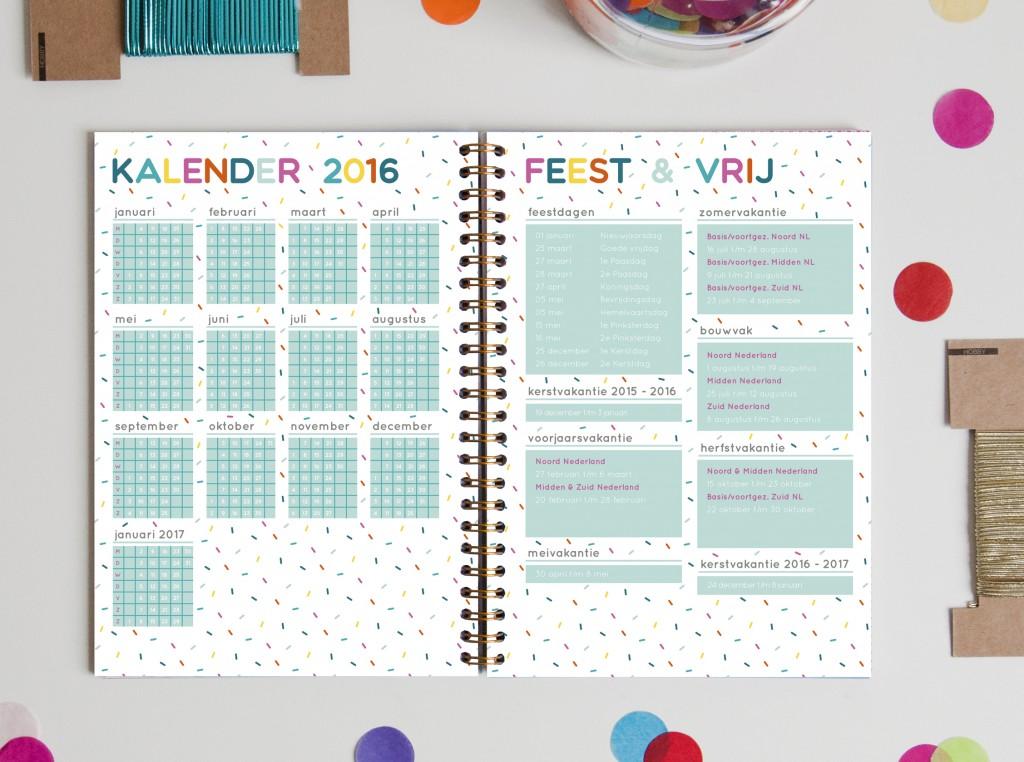 team confetti agenda 2016 kalender