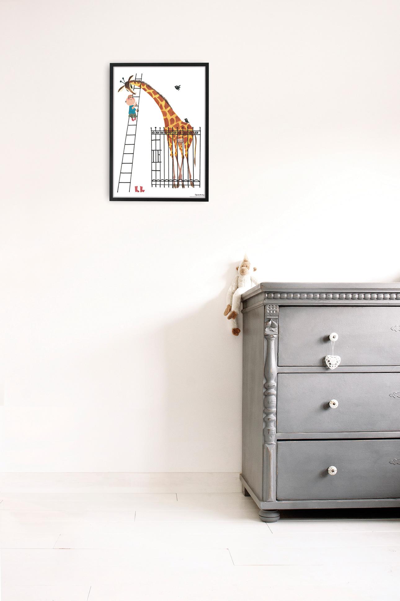Kek Amsterdam poster fiep giraffe