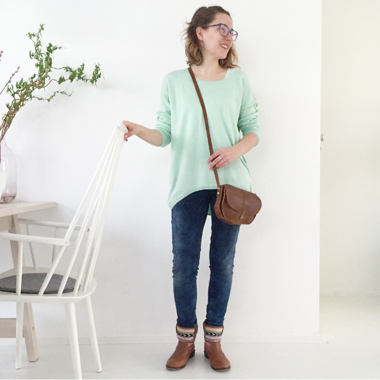 Marike OOTD mint voorjaar keecie tas - fashion mom