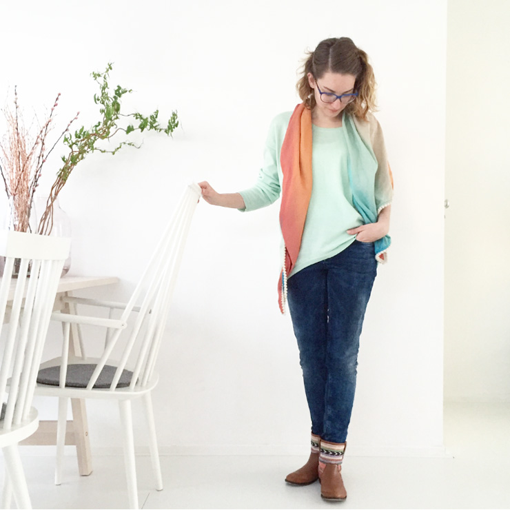 Marike OOTD mint voorjaar - fashion mom
