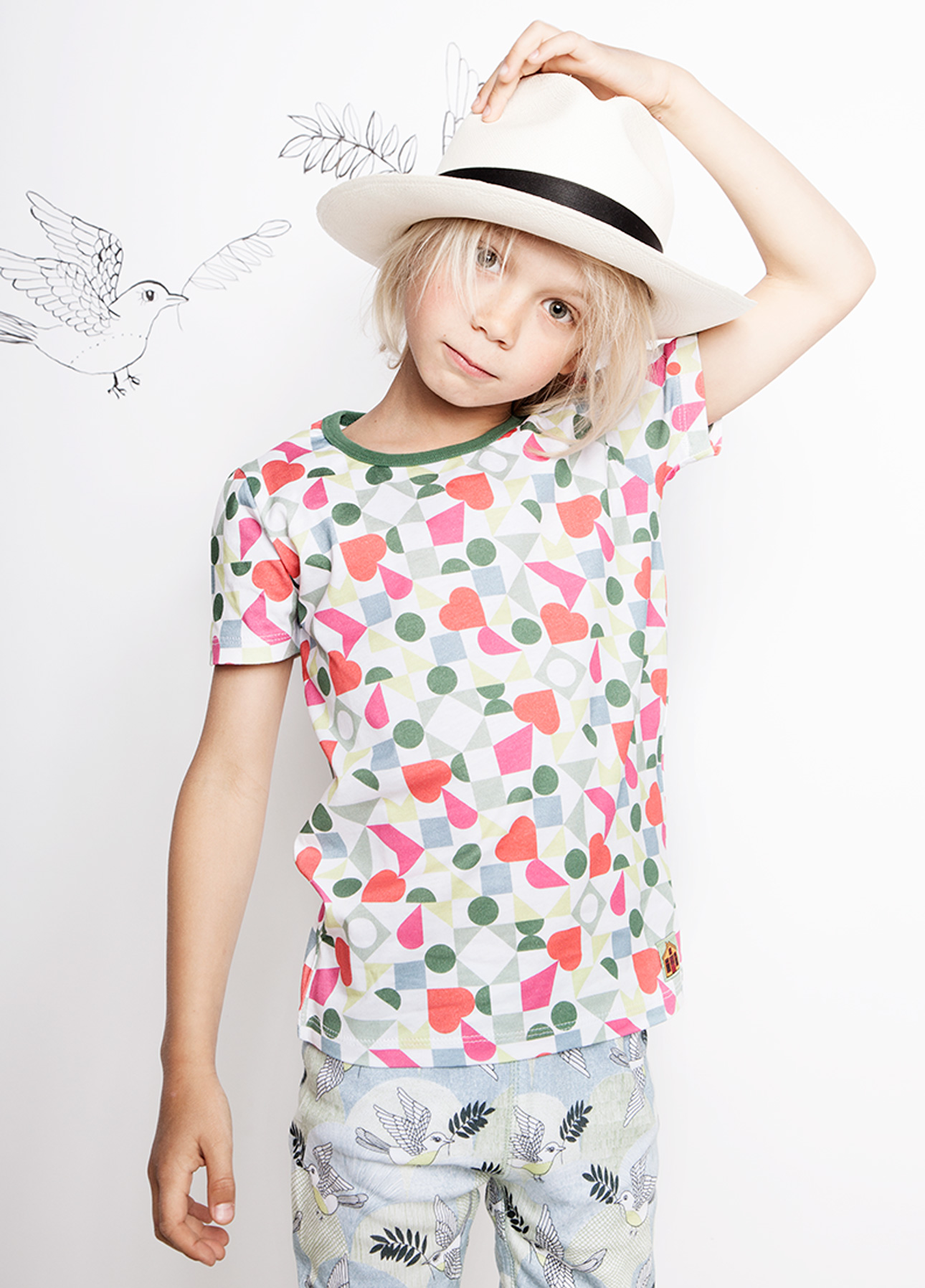 Modeerska Huset SS16 Love Tiles t-shirt
