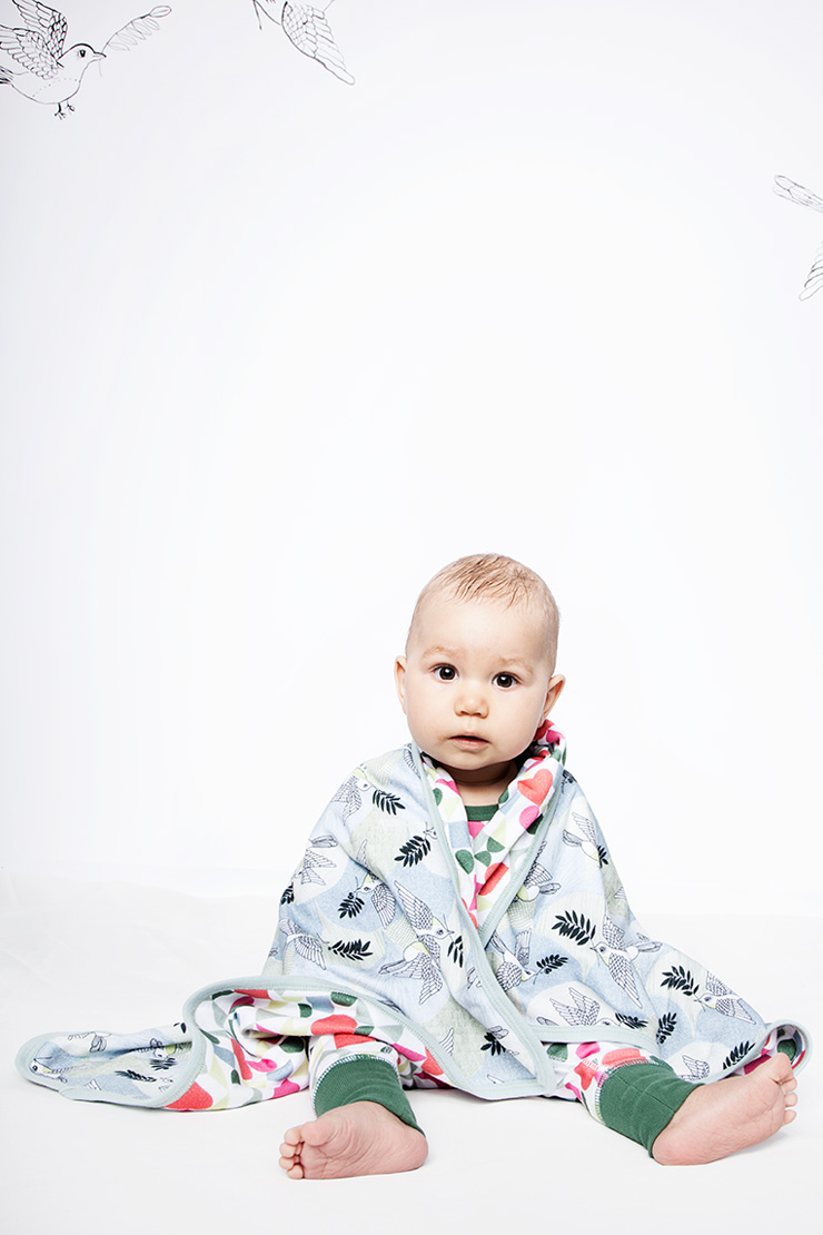 Modeerska Huset ss16 Peace Please Baby Blanket
