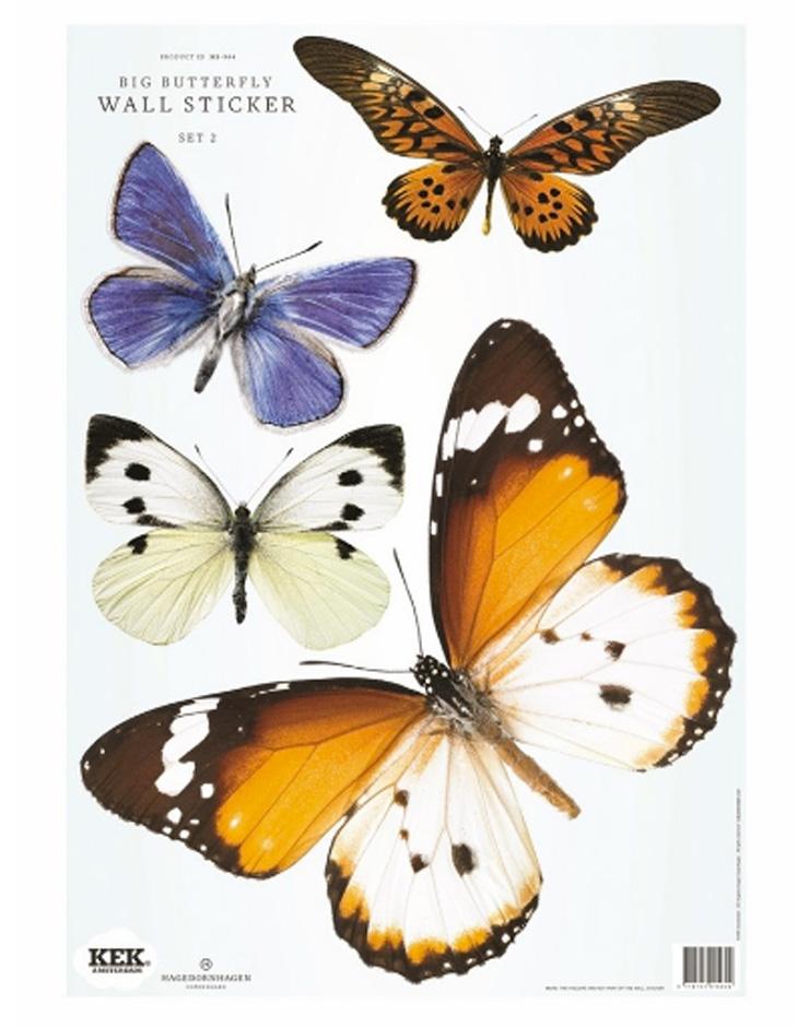 Moederdag vlinderkindjes muurstickers kek amsterdam