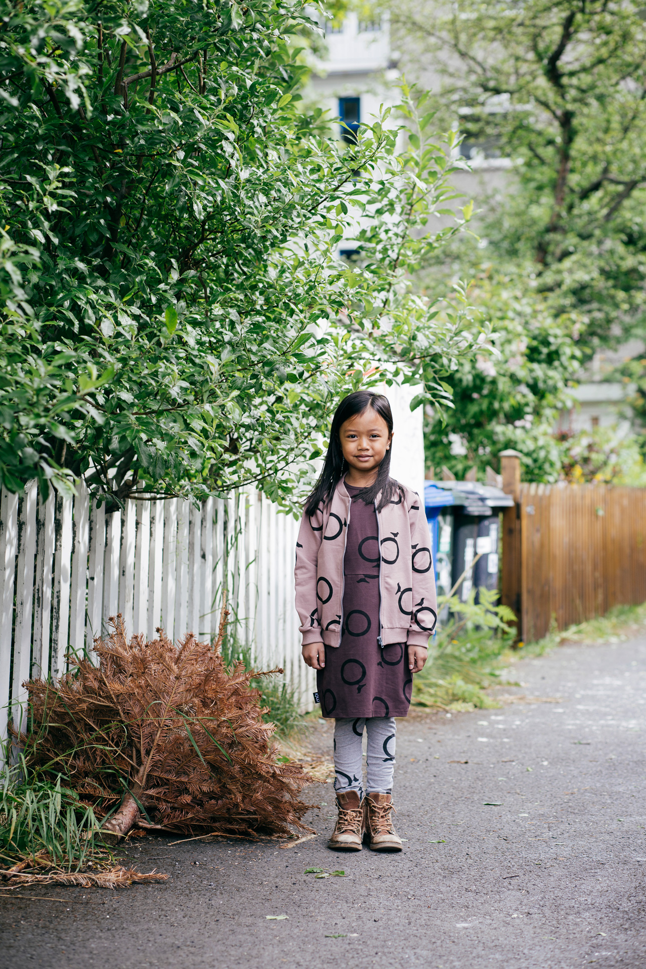 Moi kidz ss16 oudroze burgundy jurk