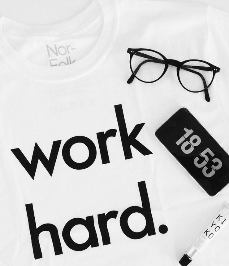 Nor Folk Work Hard shirt
