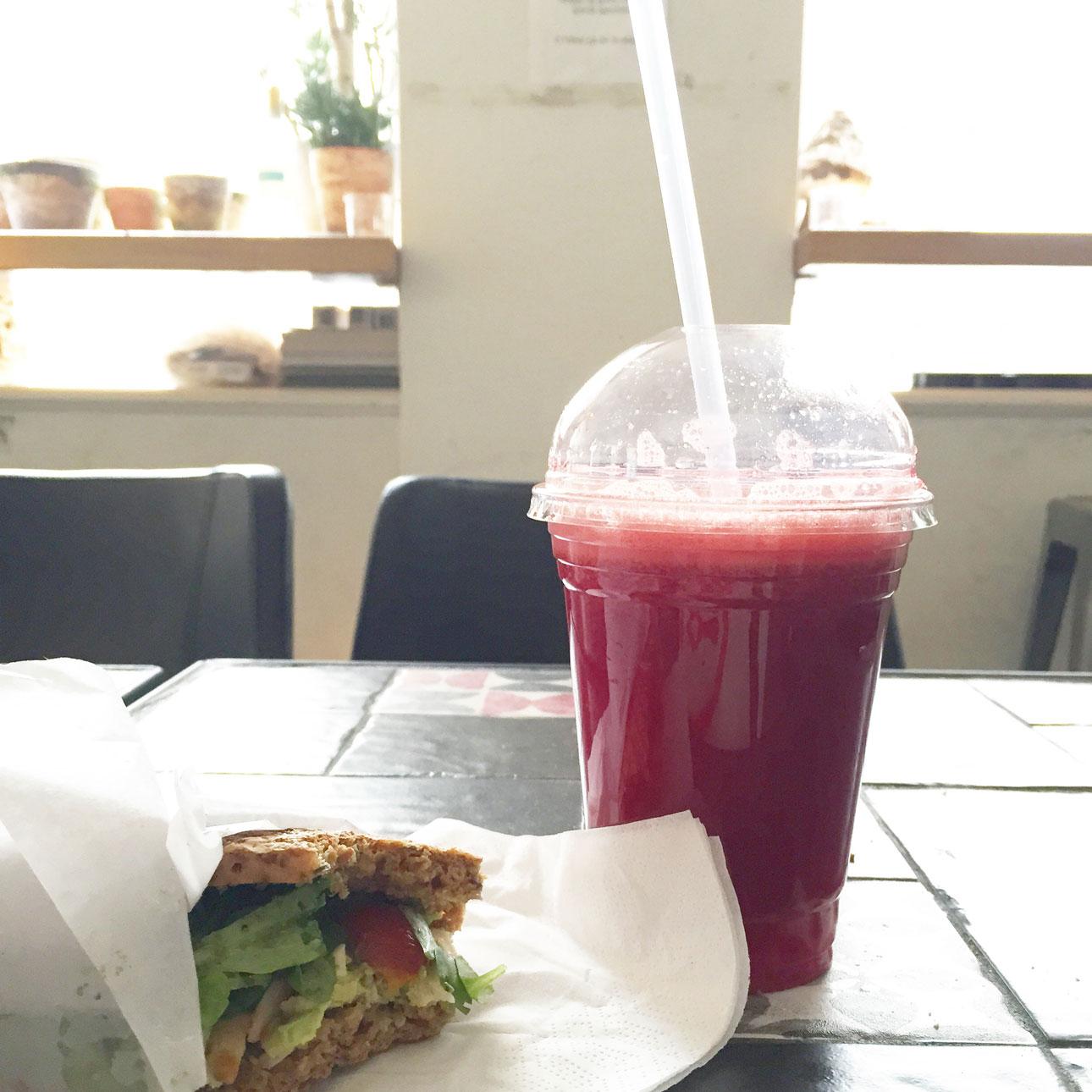 Kopenhagen hotspots Big apple juice bar broodje