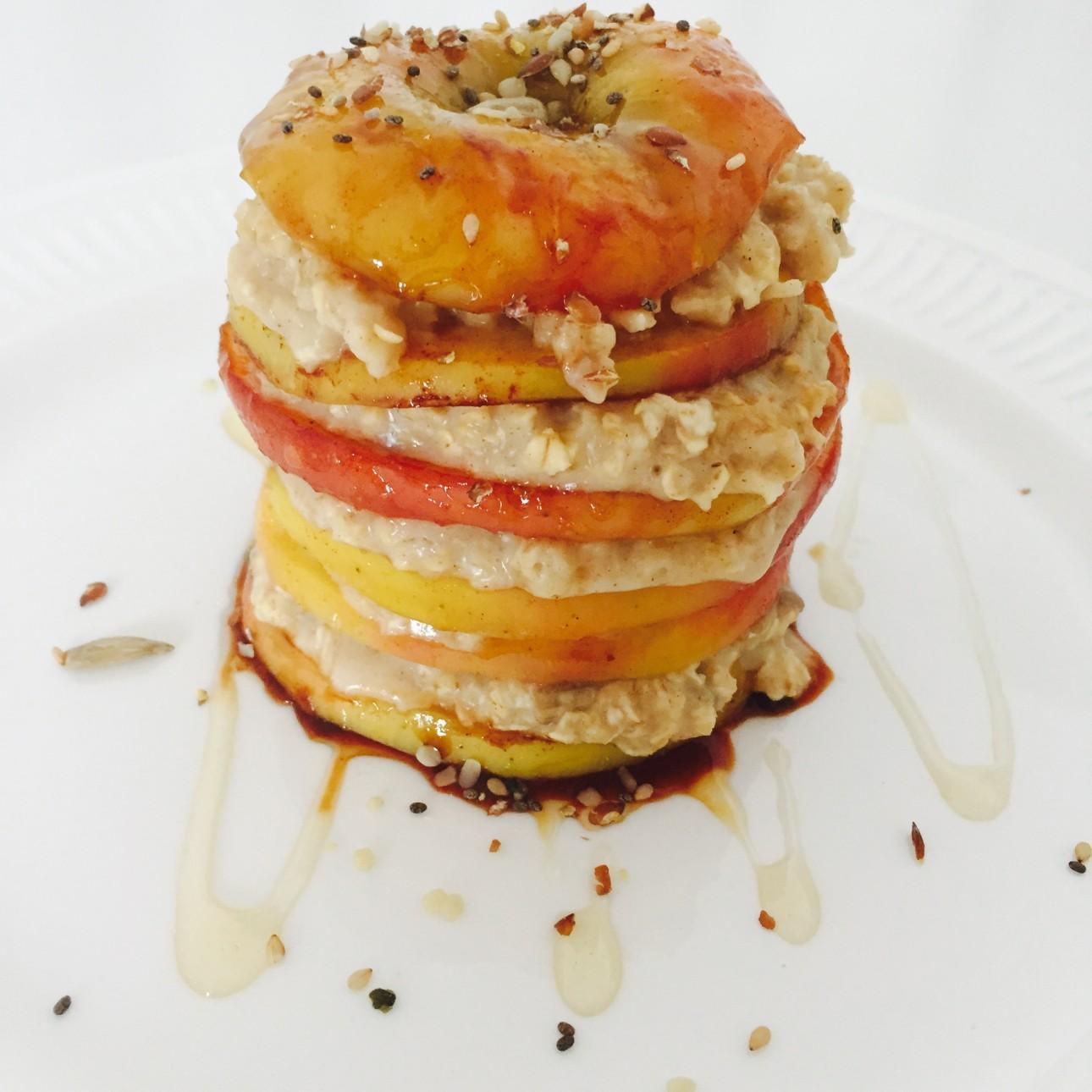 Ontbijt Havermout toren met appel