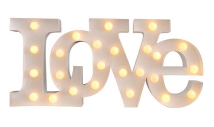 moederdag cadeau love letterlamp