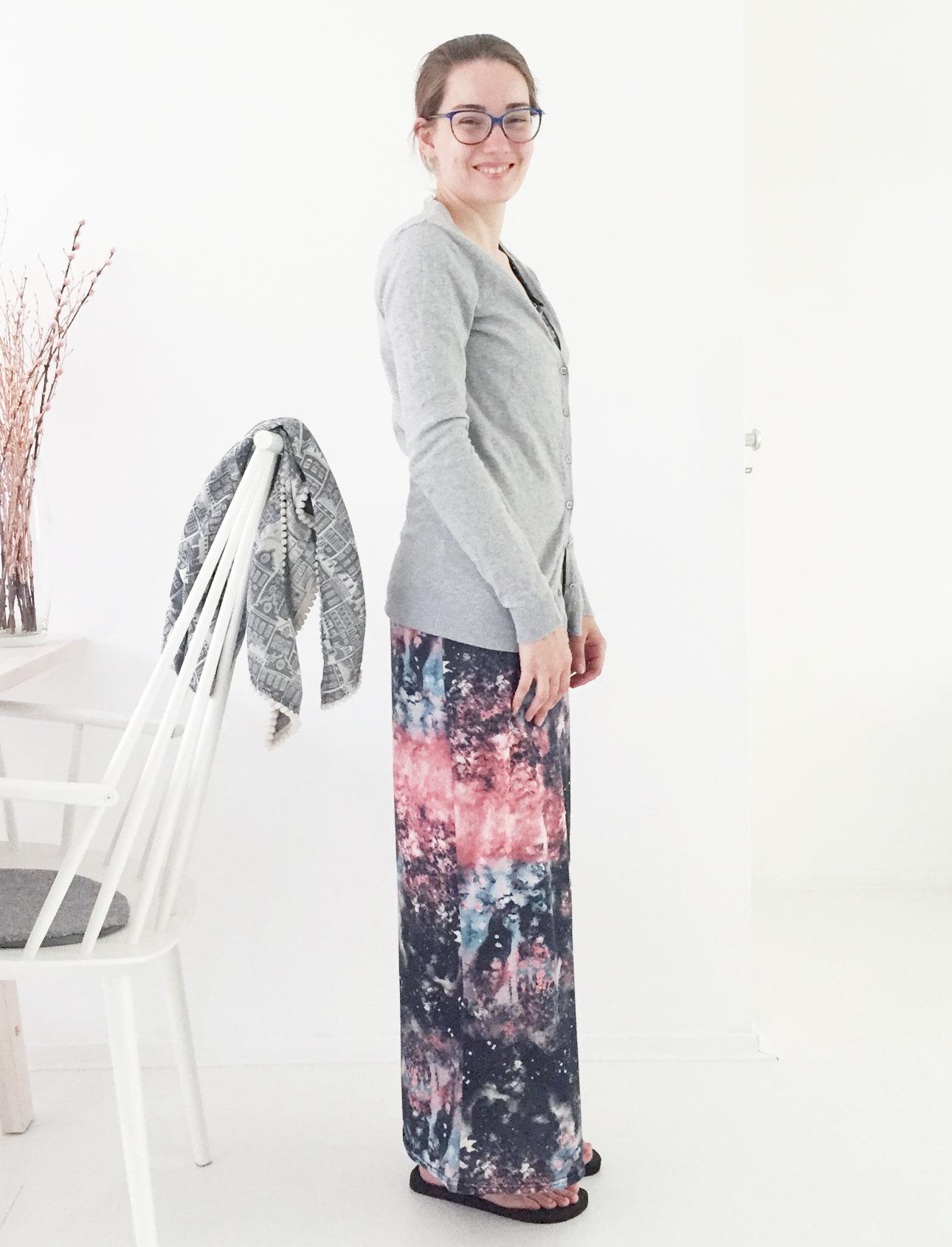 OOTD Marike galaxy maxi dress vest