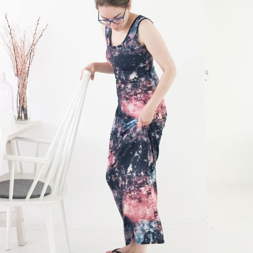 OOTD Marike galaxy maxi dress