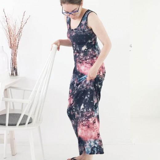 OOTD Marike galaxy maxi dress