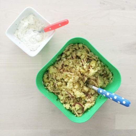 Recept couscous met bloemkool gerookte kip