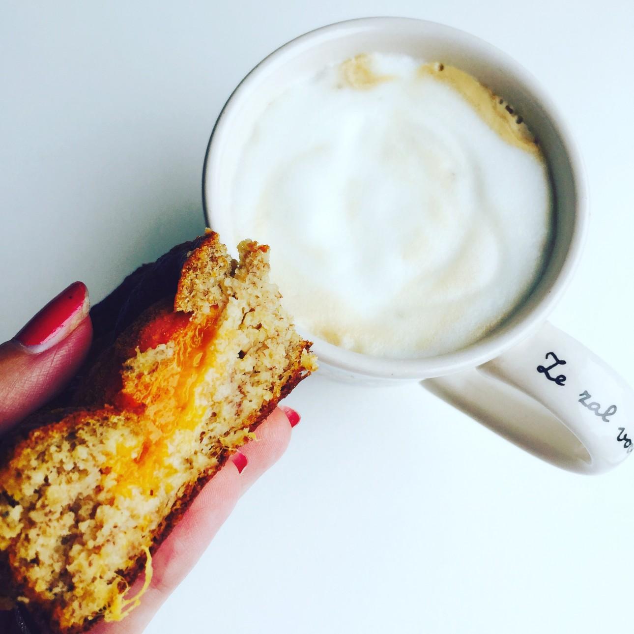 gezonde fruitcake - koffiemoment