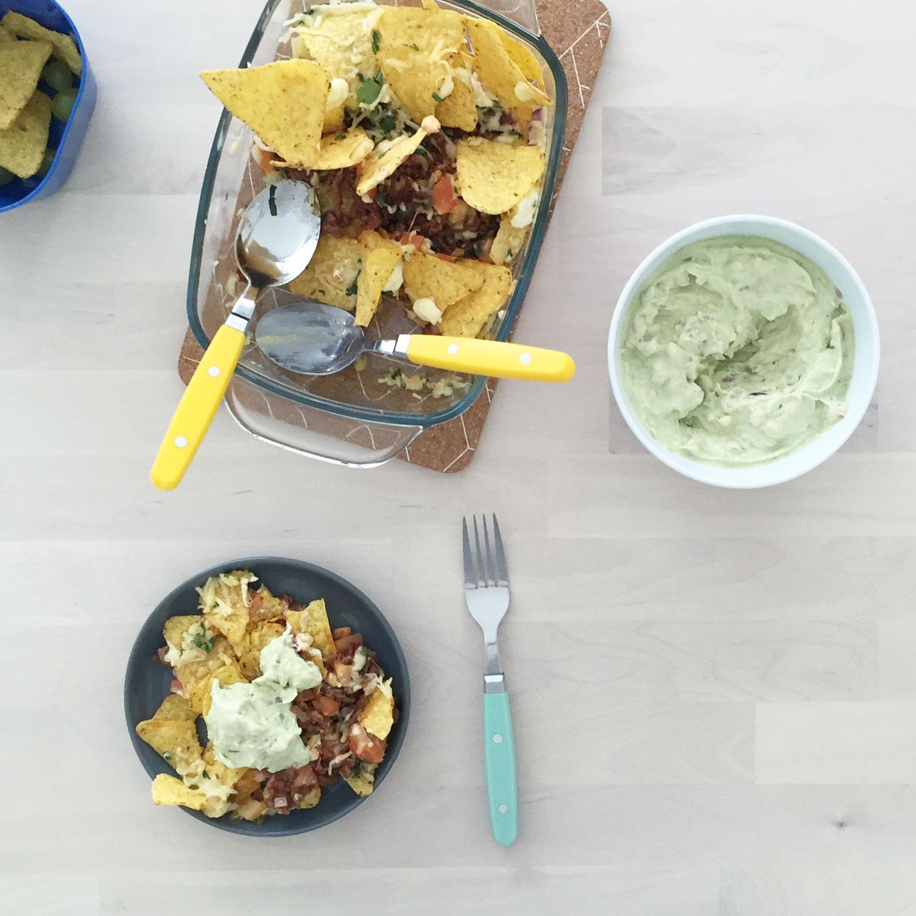 loaded nachos ovenschotel eten