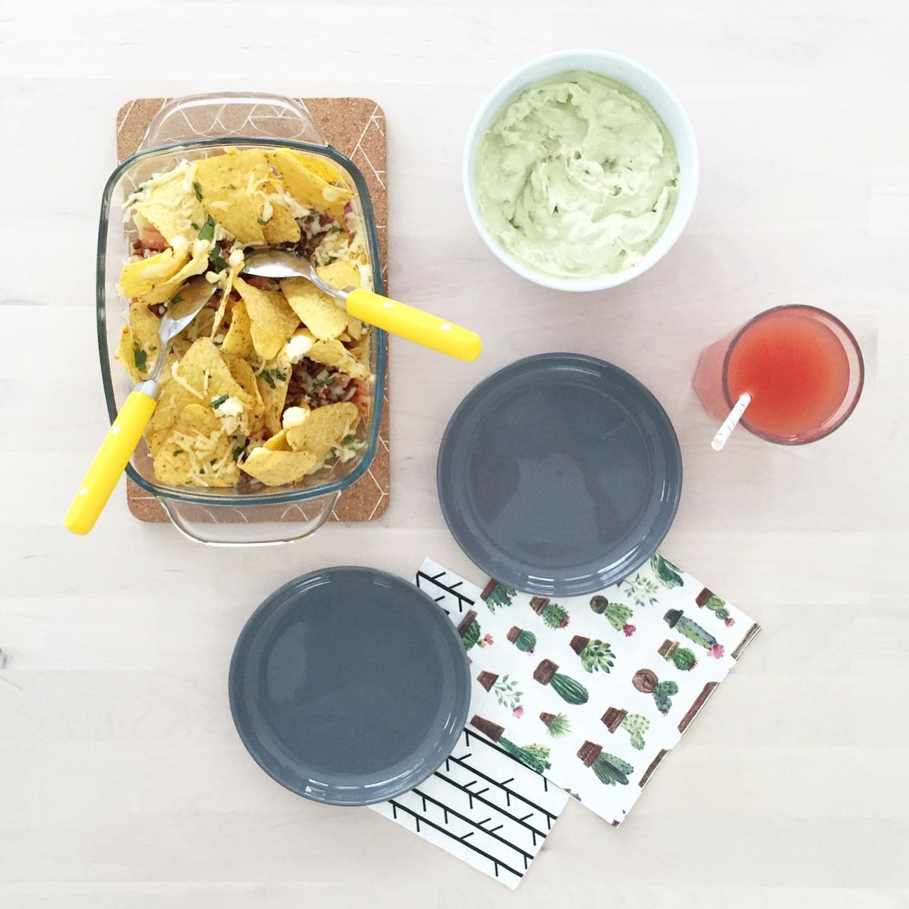 recept loaded nachos ovenschotel taco chips