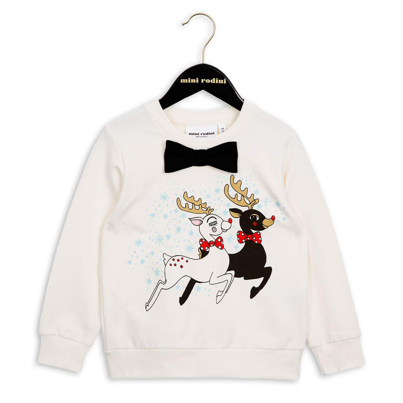 mini rodini xmas 2016 sweater white bow