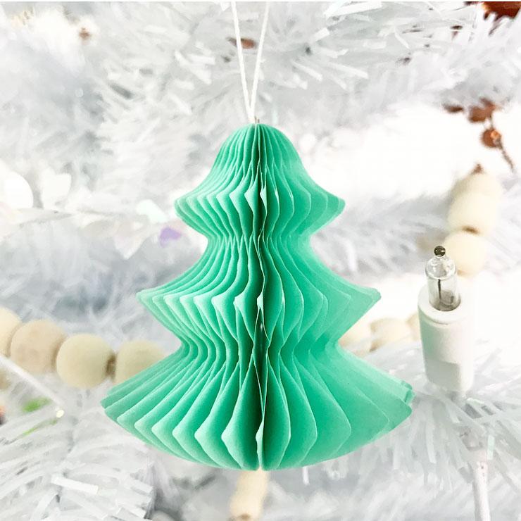 kindvriendelijke witte kerstboom honeycomb kerstboom
