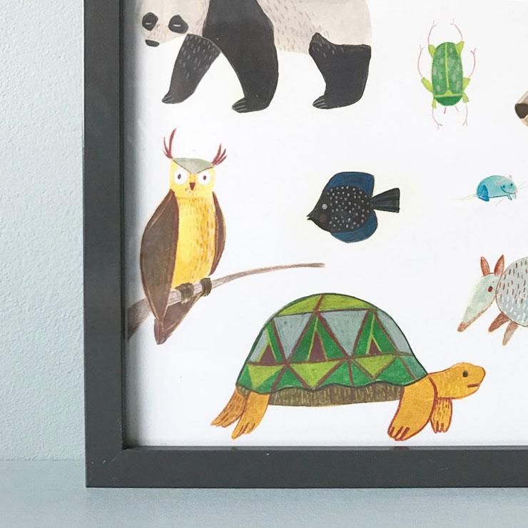 poster kinderkamer marta abad blay schildpad