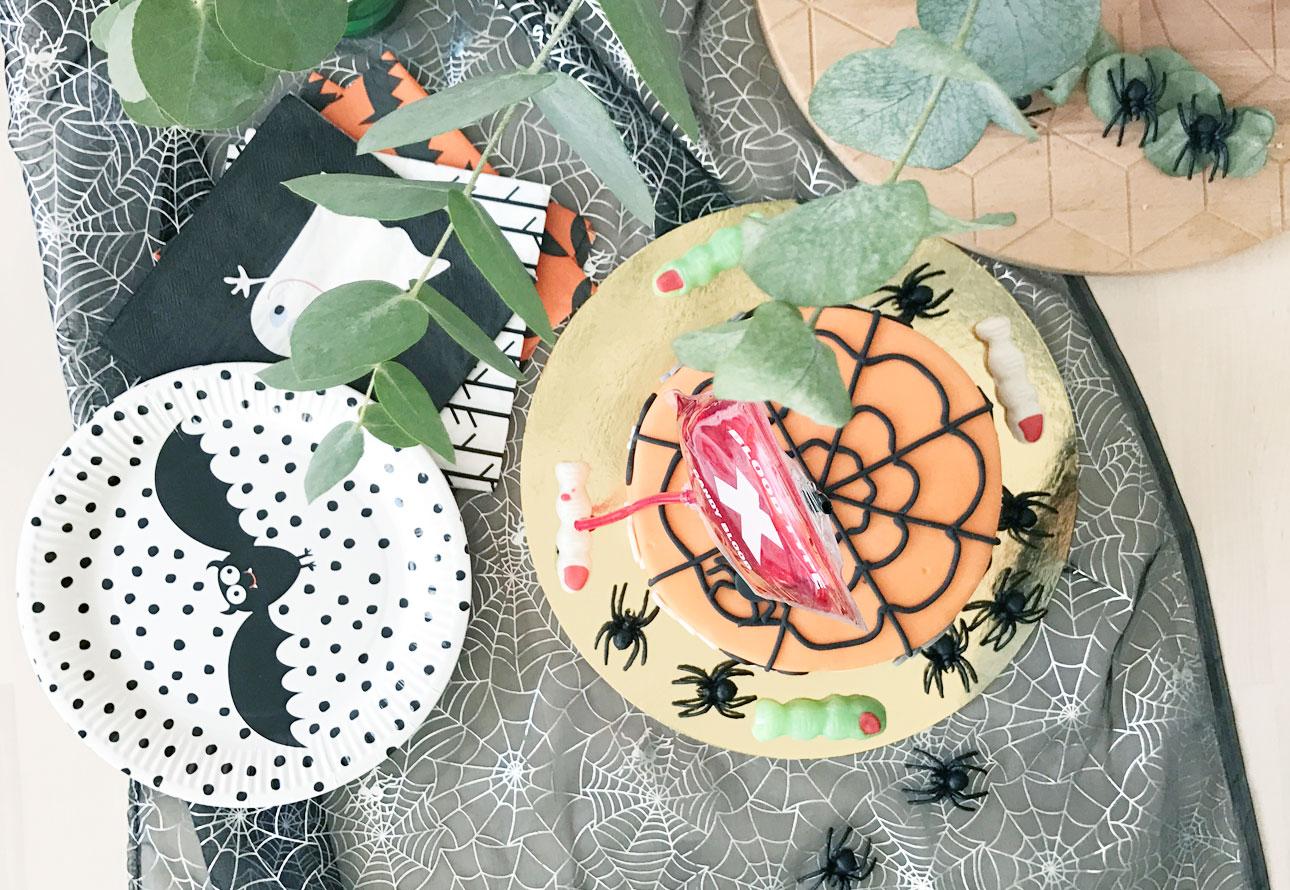 halloween feest taart nepbloed
