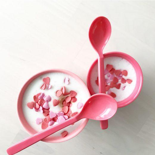 valentijnskoffie babyccino suikerhartjes