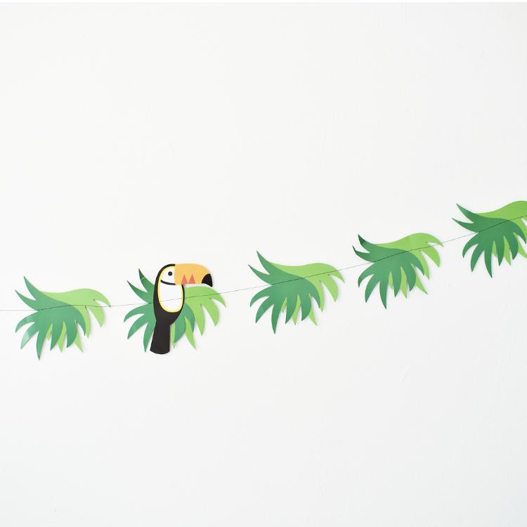 Senne jarig jungle feest toekan slinger