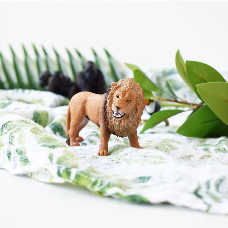 jungle feest hydrofiel doek schleich leeuw