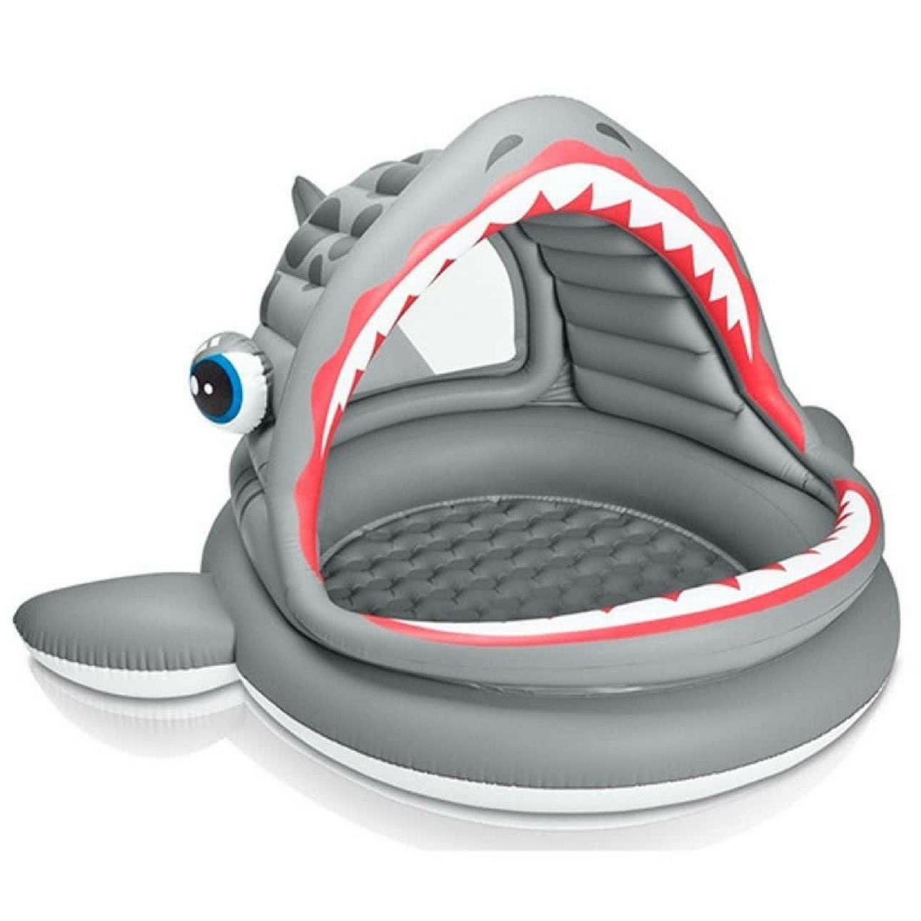 opblaaszwembad intex haai