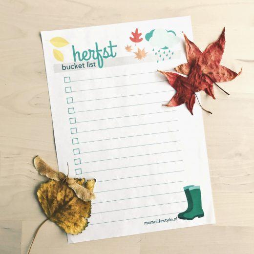 mamalifestyle herfst bucket list