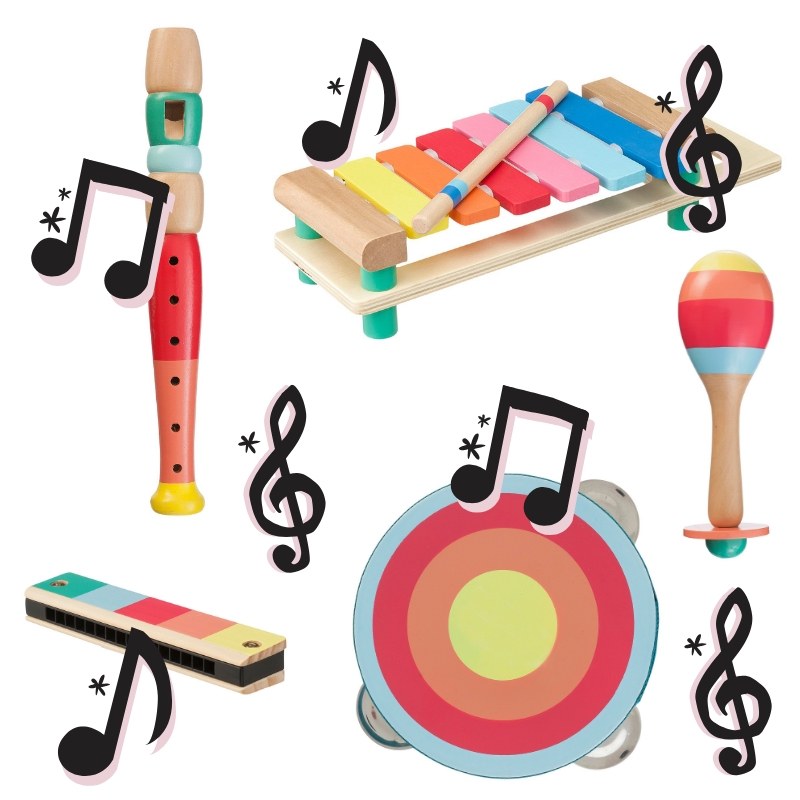 hema houten speelgoed muziek