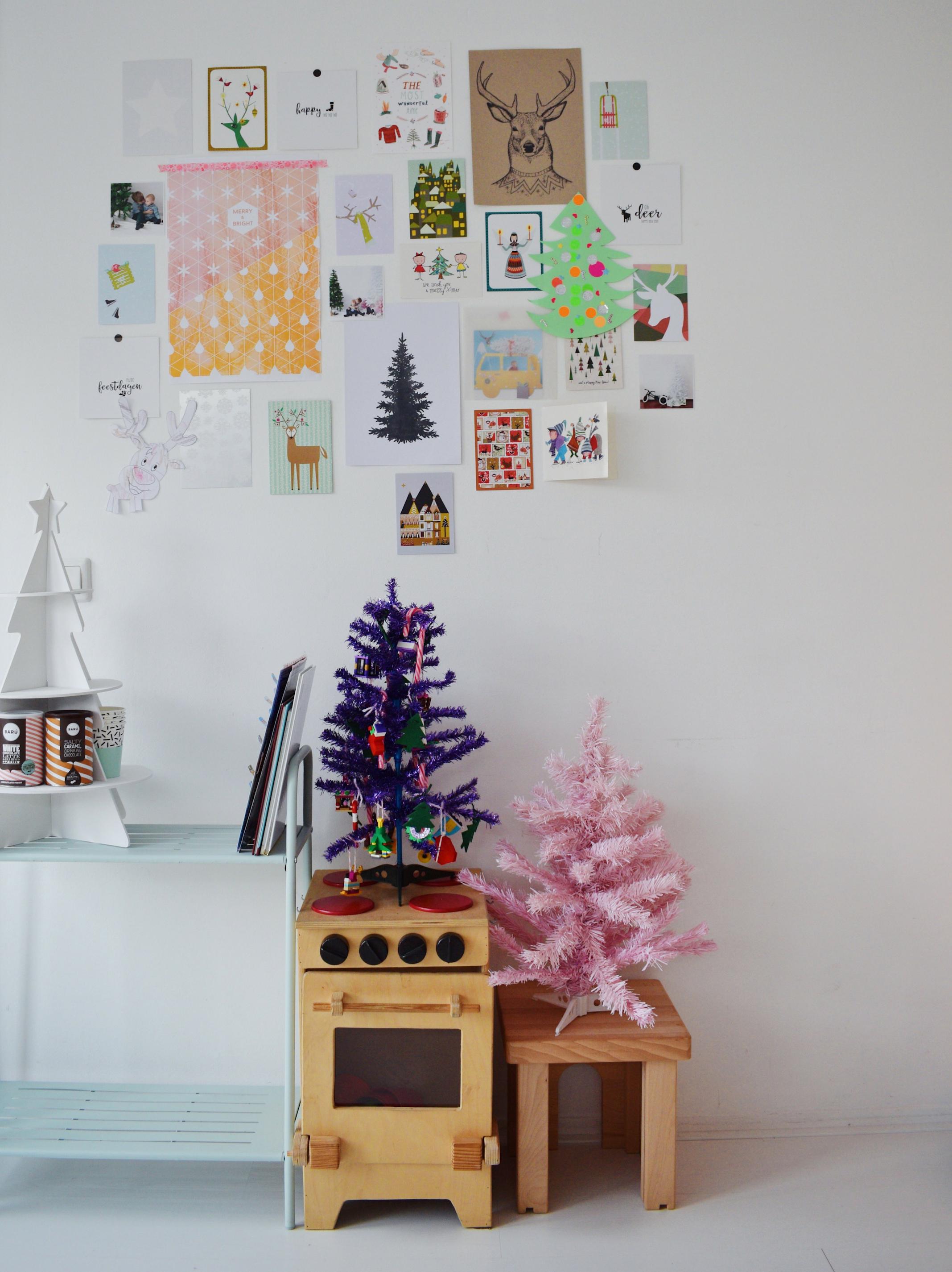 kersthuis 2018 kerst wanddecoratie woonkamer